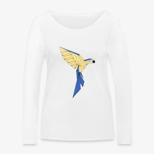 Papagei geometrisch - Frauen Bio-Langarmshirt von Stanley & Stella