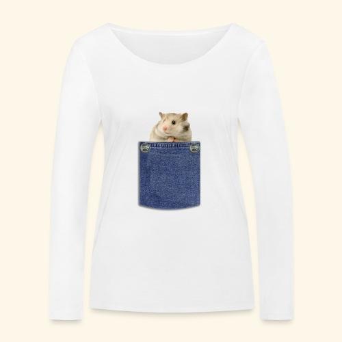 hamster in the poket - Maglietta a manica lunga ecologica da donna di Stanley & Stella