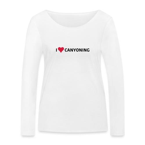 I Love Canyoning - Frauen Bio-Langarmshirt von Stanley & Stella