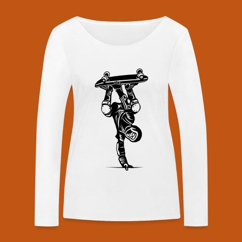 Skater / Skateboarder 02_schwarz - Frauen Bio-Langarmshirt von Stanley & Stella