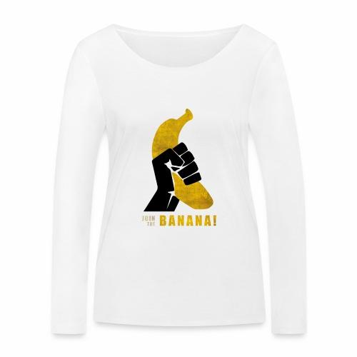 Join the Banana ! Wankil - T-shirt manches longues bio Stanley & Stella Femme