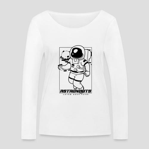 Astronauts loves Beerpong - Frauen Bio-Langarmshirt von Stanley & Stella