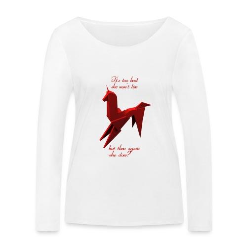 UnicornioBR2 - Camiseta de manga larga ecológica mujer de Stanley & Stella