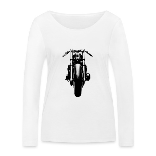 Motorcycle Front - Women's Organic Longsleeve Shirt by Stanley & Stella