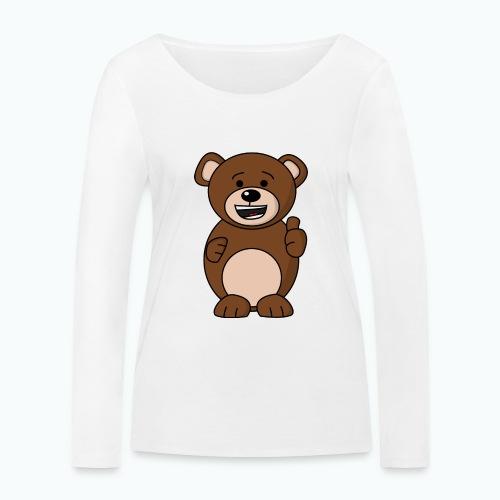 Bruno Bear Happy - Appelsin - Ekologisk långärmad T-shirt dam från Stanley & Stella
