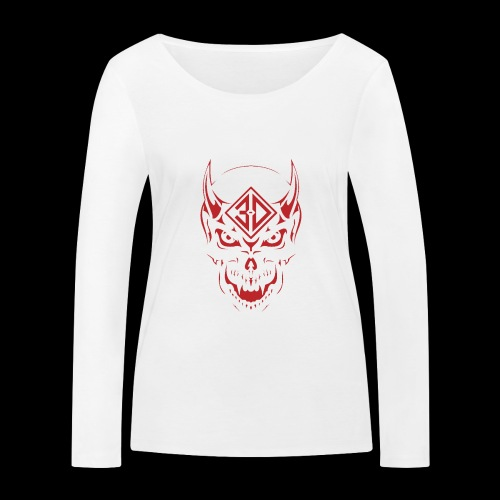 devil skull red - T-shirt manches longues bio Stanley & Stella Femme