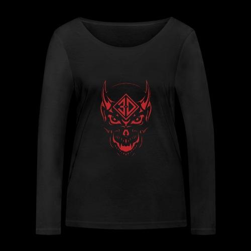 devil skull red - T-shirt manches longues bio Stanley & Stella Femme