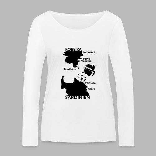 Korsika Sardinien Mori - Frauen Bio-Langarmshirt von Stanley & Stella