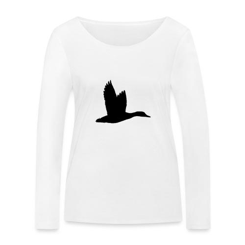 T-shirt canard personnalisé avec votre texte - T-shirt manches longues bio Stanley & Stella Femme