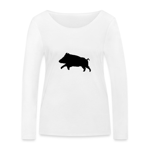 Tshirt sanglier personnalisable - T-shirt manches longues bio Stanley & Stella Femme