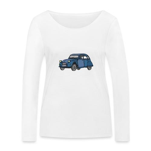 Blaue Ente 2CV - Frauen Bio-Langarmshirt von Stanley & Stella