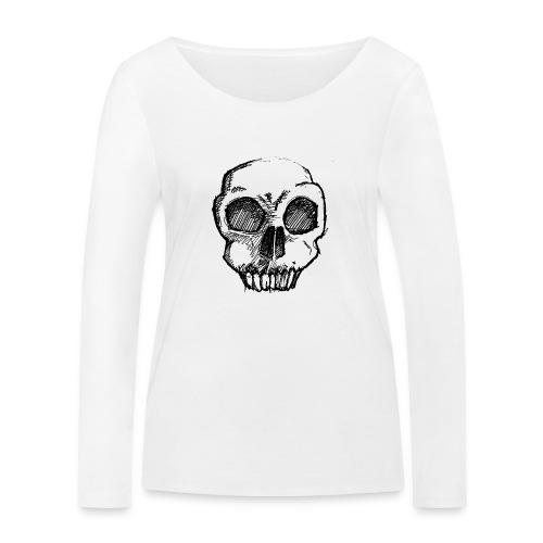 Skull sketch - Women's Organic Longsleeve Shirt by Stanley & Stella