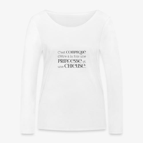 Princesse et chieuse - T-shirt manches longues bio Stanley & Stella Femme
