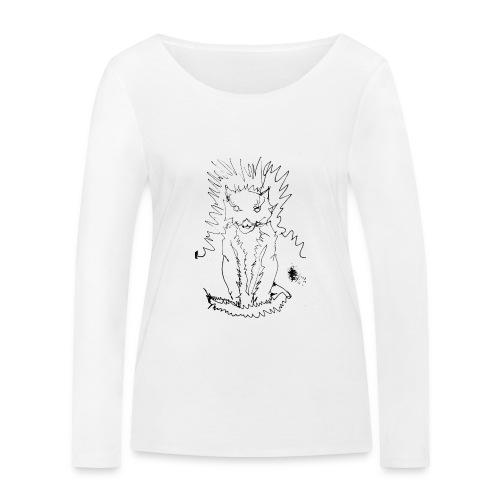 der graue Katzer - Frauen Bio-Langarmshirt von Stanley & Stella
