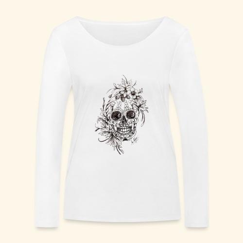 SkullDrawings - Ekologisk långärmad T-shirt dam från Stanley & Stella