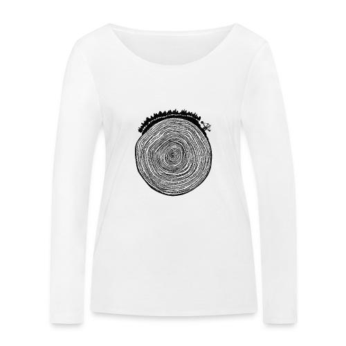 Kattoo Schwarz - Frauen Bio-Langarmshirt von Stanley & Stella