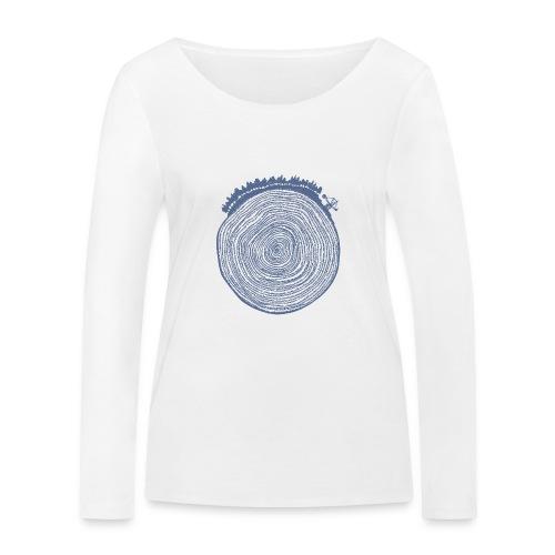 Kattoo Blau - Frauen Bio-Langarmshirt von Stanley & Stella