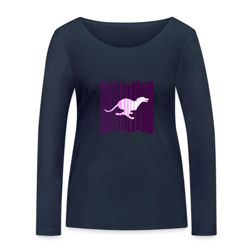 Sighthound In Purple Women's T - Women's Organic Longsleeve Shirt by Stanley & Stella
