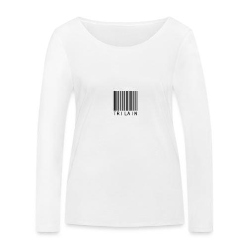 Trilain - Standard Logo T - Shirt White - Vrouwen bio shirt met lange mouwen van Stanley & Stella
