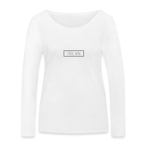 Trilain - Box Logo T - Shirt White - Vrouwen bio shirt met lange mouwen van Stanley & Stella