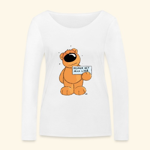 chris bears Keiner hat mich lieb - Frauen Bio-Langarmshirt von Stanley & Stella
