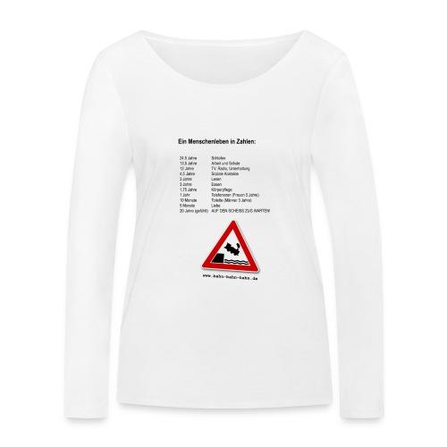 Menschenleben in Zahlen - Frauen Bio-Langarmshirt von Stanley & Stella
