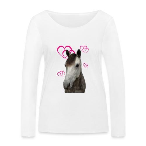 Hästälskare (Pilot) - Ekologisk långärmad T-shirt dam från Stanley & Stella