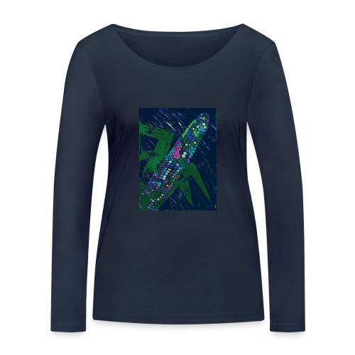 Mais blau - Frauen Bio-Langarmshirt von Stanley & Stella