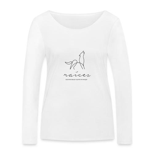 educando desde nuestra naturaleza negro - Camiseta de manga larga ecológica mujer de Stanley & Stella