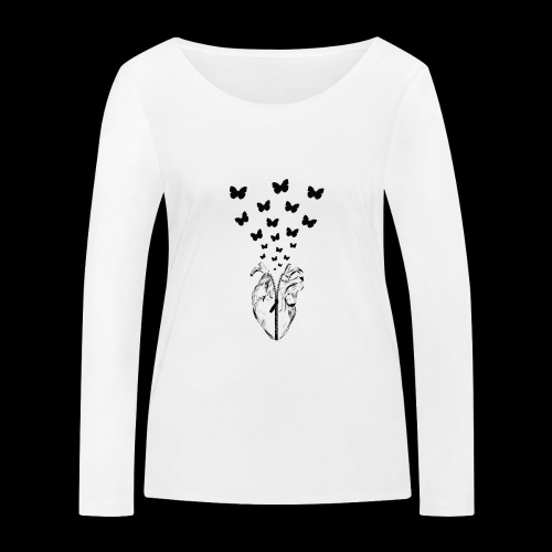 HEART BUTTERFLY - Maglietta a manica lunga ecologica da donna di Stanley & Stella