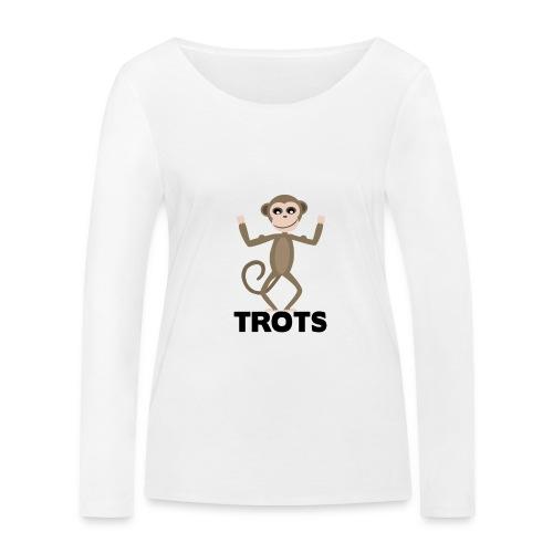 apetrots aapje wat trots is - Vrouwen bio shirt met lange mouwen van Stanley & Stella