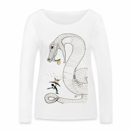 Poison - Fight against a giant poisonous snake - Women's Organic Longsleeve Shirt by Stanley & Stella