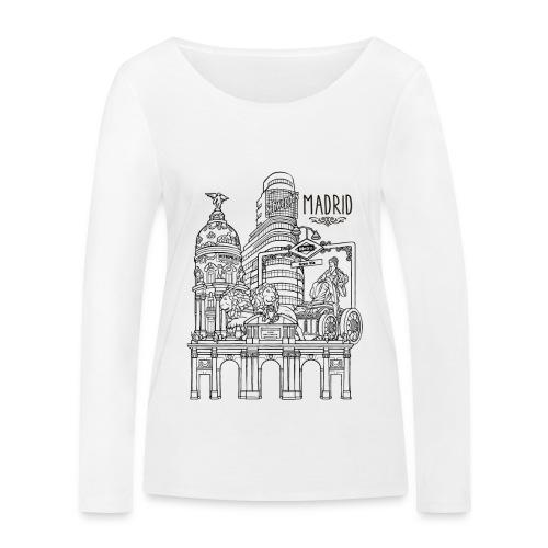 MADRID COLLAGE NEGRO - Camiseta de manga larga ecológica mujer de Stanley & Stella