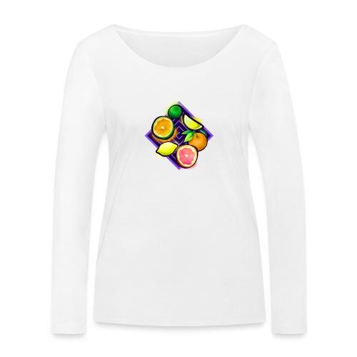 Citrus Pop Art - Frauen Bio-Langarmshirt von Stanley & Stella
