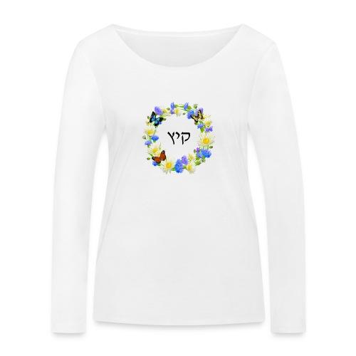 Corona floral verano, hebreo - Camiseta de manga larga ecológica mujer de Stanley & Stella