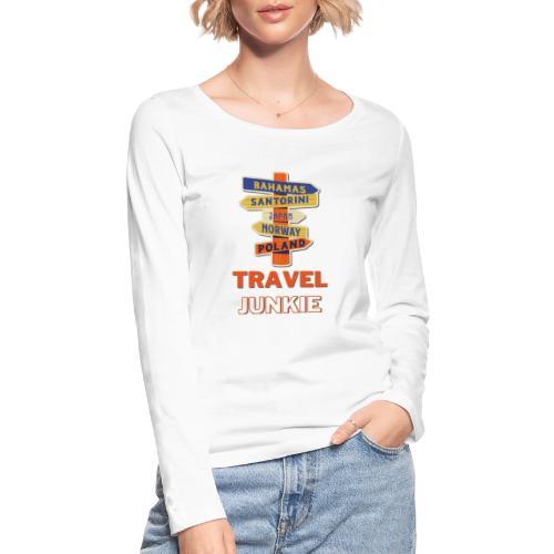 traveljunkie - i like to travel - Frauen Bio-Langarmshirt von Stanley & Stella