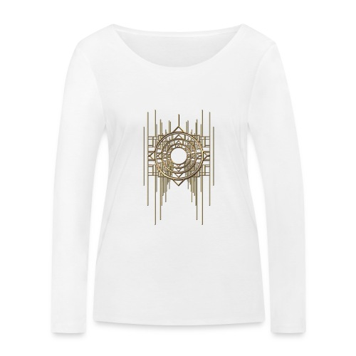 Abstract Geometry Gold Metal Art Deco Vintage - Women's Organic Longsleeve Shirt by Stanley & Stella