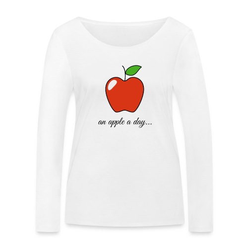 An apple a day ... - Women's Organic Longsleeve Shirt by Stanley & Stella