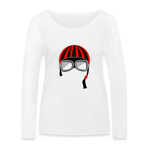 red_helmet-png - Maglietta a manica lunga ecologica da donna di Stanley & Stella