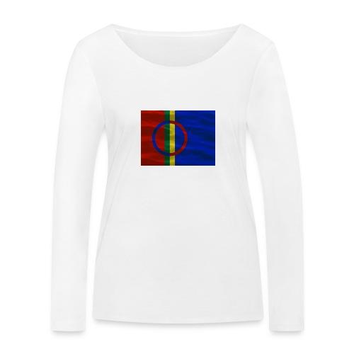 Sapmi flag - Økologisk langermet T-skjorte for kvinner fra Stanley & Stella