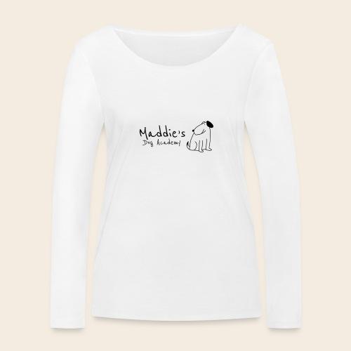 Académie des chiens de Maddie (noir) - T-shirt manches longues bio Stanley & Stella Femme