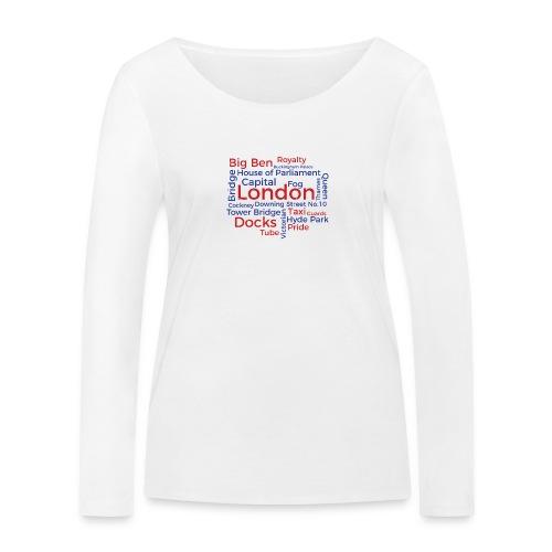 London Word Cloud - London Souvenir Schlagworte - Frauen Bio-Langarmshirt von Stanley & Stella