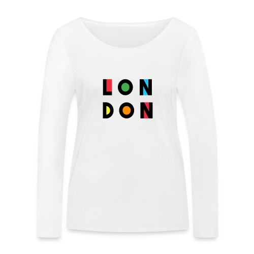 Vintage London Souvenir - Retro Modern Art London - Frauen Bio-Langarmshirt von Stanley & Stella