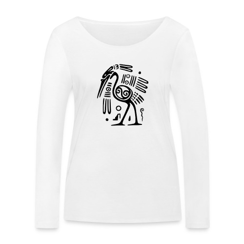 Kranich - Frauen Bio-Langarmshirt von Stanley & Stella