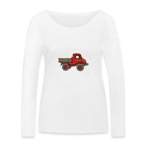 Roter Lastwagen, LKW, Laster - Frauen Bio-Langarmshirt von Stanley & Stella