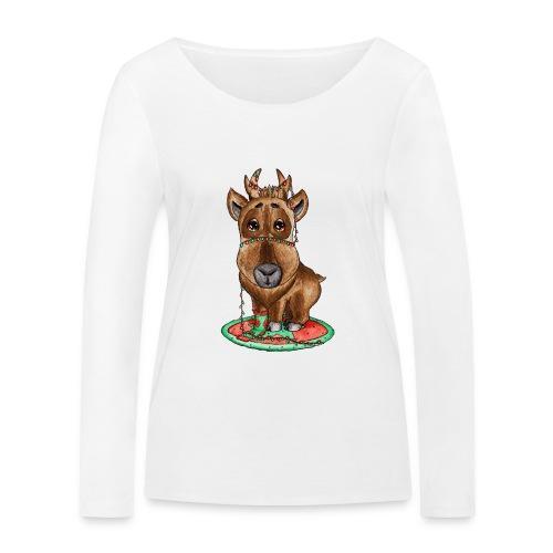 Reindeer refined scribblesirii - Stanley & Stellan naisten pitkähihainen luomupaita