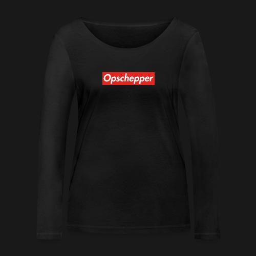 Opschepper Classic Rood - Vrouwen bio shirt met lange mouwen van Stanley & Stella