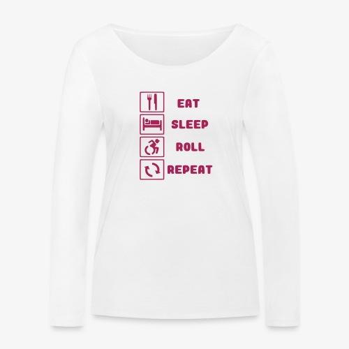 >Eten, slapen, rollen met rolstoel en herhalen 001 - Vrouwen bio shirt met lange mouwen van Stanley & Stella