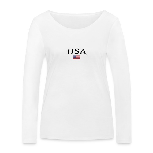USA, America, Usamade, Trinidad, Laconte, American - Women's Organic Longsleeve Shirt by Stanley & Stella