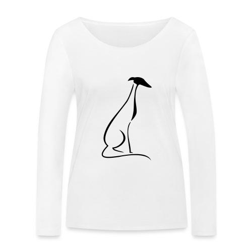 Sitzender Windhund - Frauen Bio-Langarmshirt von Stanley & Stella